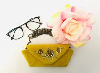 Embroidered Glasses Case (Yellow)